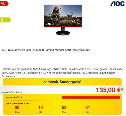AOC G2590VXQ 62,2cm (24,5 Zoll) Gaming-Monitor - jetzt 14% billiger