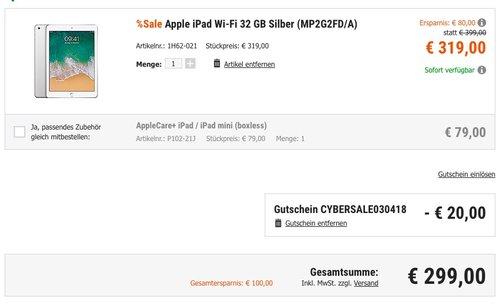 Apple iPad Wi-Fi 32 GB Silber (MP2G2FD/A) - jetzt 6% billiger