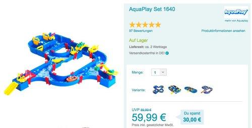 AquaPlay - Kanalfahrt mit 4 Spielstationen - jetzt 13% billiger