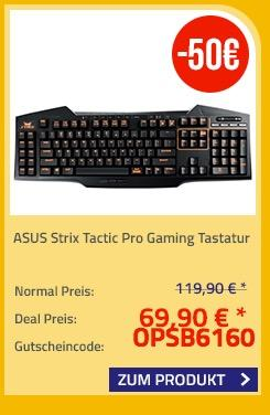ASUS Strix Tactic Pro Gaming Tastatur - jetzt 42% billiger