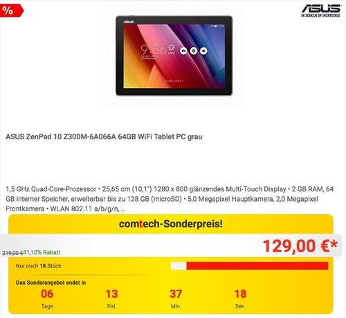 ASUS ZenPad 10 Z300M-6A066A 64GB WiFi Tablet PC grau - jetzt 35% billiger