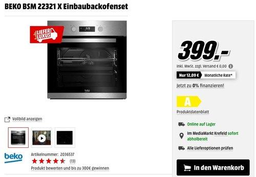 BEKO BSM 22321 X Einbaubackofenset - jetzt 14% billiger