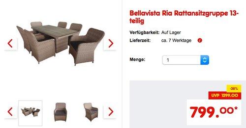 Bellavista Ria Rattansitzgruppe 13-teilig - jetzt 33% billiger