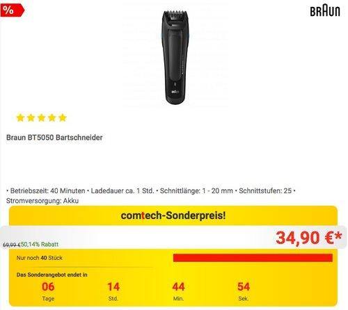 Braun BT5050 Bartschneider - jetzt 13% billiger