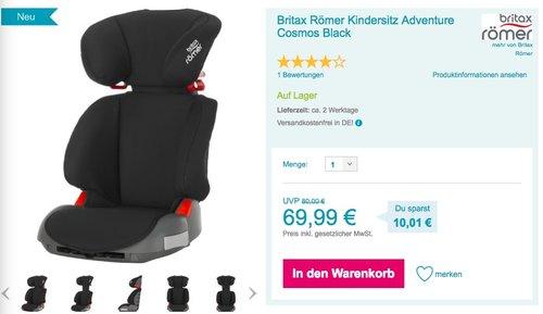 Britax Römer Adventure Autositz Gruppe 2/3 (15 - 36 kg) cosmos black - jetzt 9% billiger
