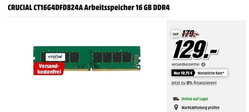 CRUCIAL CT16G4DFD824A Arbeitsspeicher 16 GB DDR4 - jetzt 13% billiger