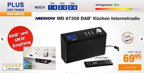 DAB+ Küchen Internetradio MEDION® LIFE® P85060 (MD 87308) - jetzt 25% billiger