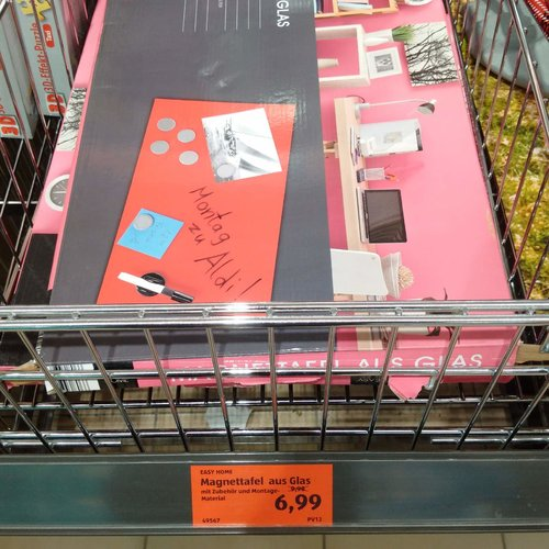 EASY HOME Magnettafel aus Glas - jetzt 30% billiger