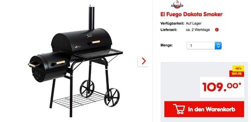 El Fuego Dakota Smoker - jetzt 8% billiger