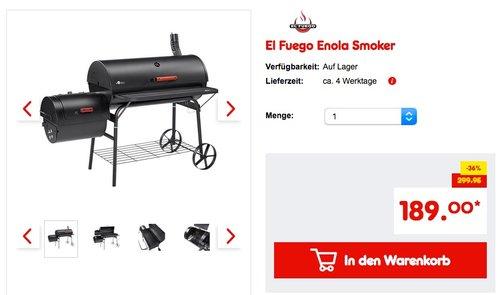El Fuego Enola Smoker - jetzt 14% billiger