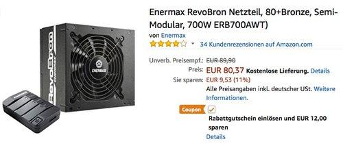 Enermax RevoBron 700W PC-Netzteil - jetzt 15% billiger