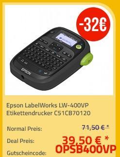 Epson LabelWorks LW-400VP Etikettendrucker - jetzt 45% billiger
