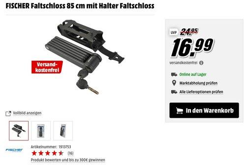FISCHER Faltschloss 85 cm mit Halter Faltschloss - jetzt 19% billiger