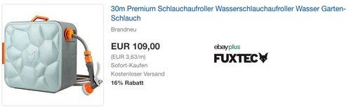 FUXTEC automatischer Schlauchaufroller FX-CU30 mit 30 m und 1/2 Zoll Anschluss - jetzt 16% billiger