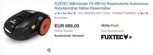 FUXTEC Mähroboter FX-RB144 - jetzt 7% billiger