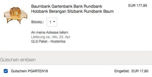 Garden Pleasure Baumbank Holzbank aus Berangan, lackiert, 6-eckig - jetzt 10% billiger