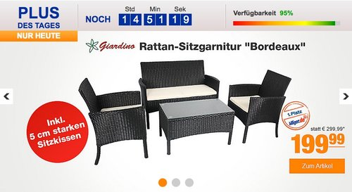 "Giardino Rattan-Sitzgarnitur ""Bordeaux"" - jetzt 9% billiger"