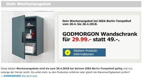 GODMORGON Wandschrank/1 Tür, grautürkis - jetzt 39% billiger