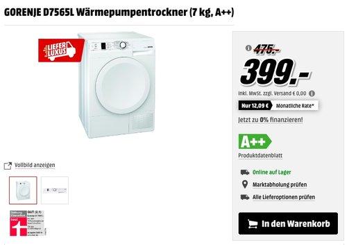 GORENJE D7565L Wärmepumpentrockner - jetzt 12% billiger