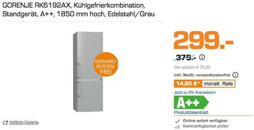 GORENJE RK6192AX Kühlgefrierkombination - jetzt 12% billiger