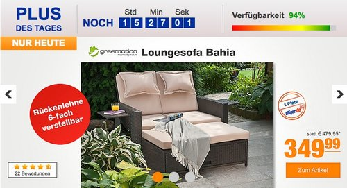 Greemotion Loungesofa Bahia - jetzt 20% billiger