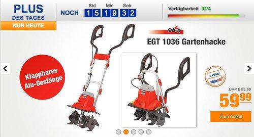 Grizzly EGT 1036 Gartenhacke - jetzt 14% billiger