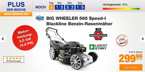 Güde BIG WHEELER 565 Speed Blackline Benzin-Rasenmäher - jetzt 21% billiger