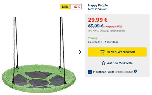 Happy People Nestschaukel - jetzt 18% billiger