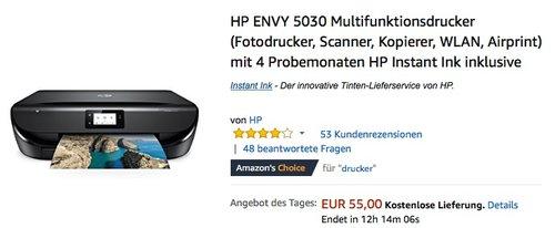 HP ENVY 5030 Multifunktionsdrucker - jetzt 14% billiger