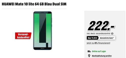 HUAWEI Mate 10 lite 64 GB Blau Dual SIM - jetzt 14% billiger