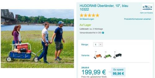 """HUDORA Überländer Bollerwagen 10"""" blau - jetzt 19% billiger"""