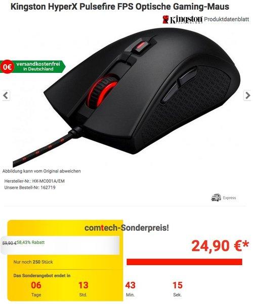 HyperX Pulsefire FPS Gaming-Maus - jetzt 47% billiger