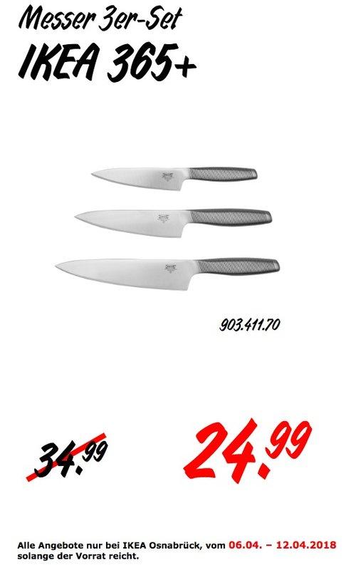 IKEA 365+ Messer 3er-Set - jetzt 29% billiger
