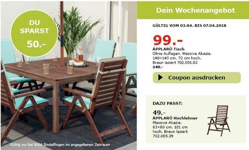 IKEA ÄPPLARÖ  Tisch - jetzt 34% billiger