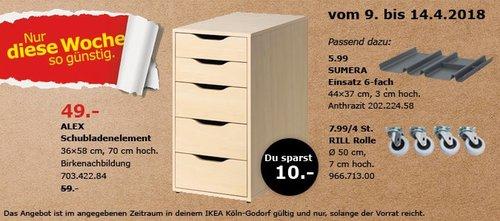 IKEA ALEX Schubladenelement - jetzt 17% billiger