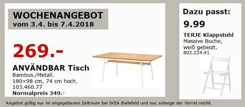 IKEA ANVÄNDBAR Tisch - jetzt 23% billiger