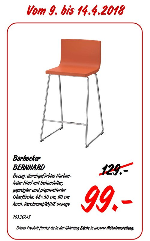 IKEA BERNHARD Barhocker - jetzt 23% billiger