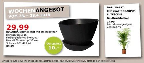 ikea bigarra blumentopf mit untersetzer f r 29 99 25. Black Bedroom Furniture Sets. Home Design Ideas