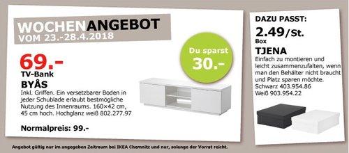 IKEA BYAS TV-Bank - jetzt 30% billiger