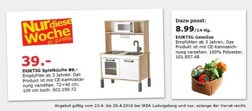 IKEA DUKTIG Spielküche - jetzt 56% billiger