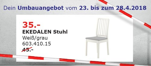 IKEA EKEDALEN Stuhl - jetzt 22% billiger