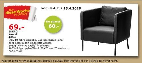 IKEA EKERÖ Sessel - jetzt 47% billiger