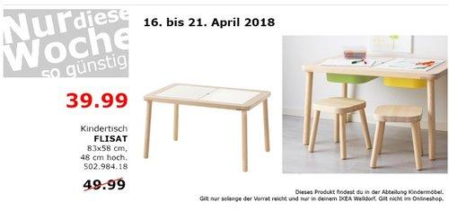 IKEA FLISAT Kindertisch - jetzt 20% billiger