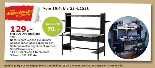 IKEA FREDDE Arbeitsplatz - jetzt 35% billiger