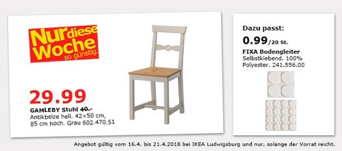 IKEA GAMLEBY Stuhl - jetzt 25% billiger