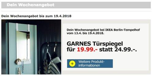 IKEA GARNES Türspiegel - jetzt 20% billiger