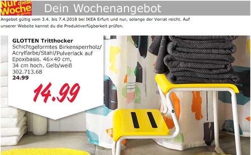 IKEA GLOTTEN Tritthocker - jetzt 40% billiger