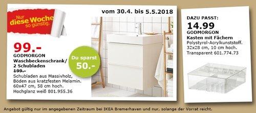 IKEA GODMORGON Waschbeckenschrank /2 Schubladen - jetzt 34% billiger