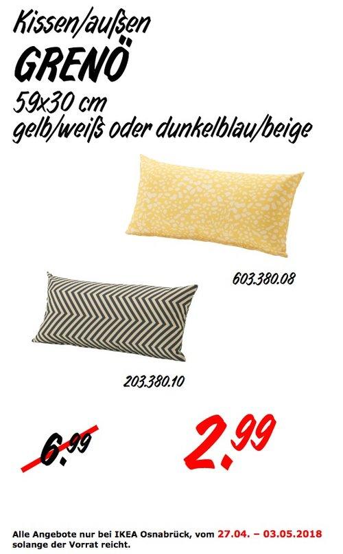 IKEA GRENÖ Kissen/außen - jetzt 57% billiger