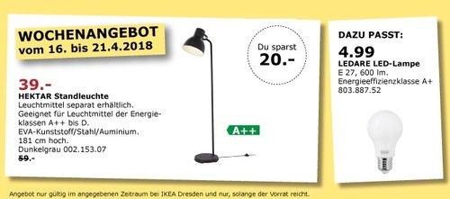 IKEA Hektar Standleuchte - jetzt 34% billiger